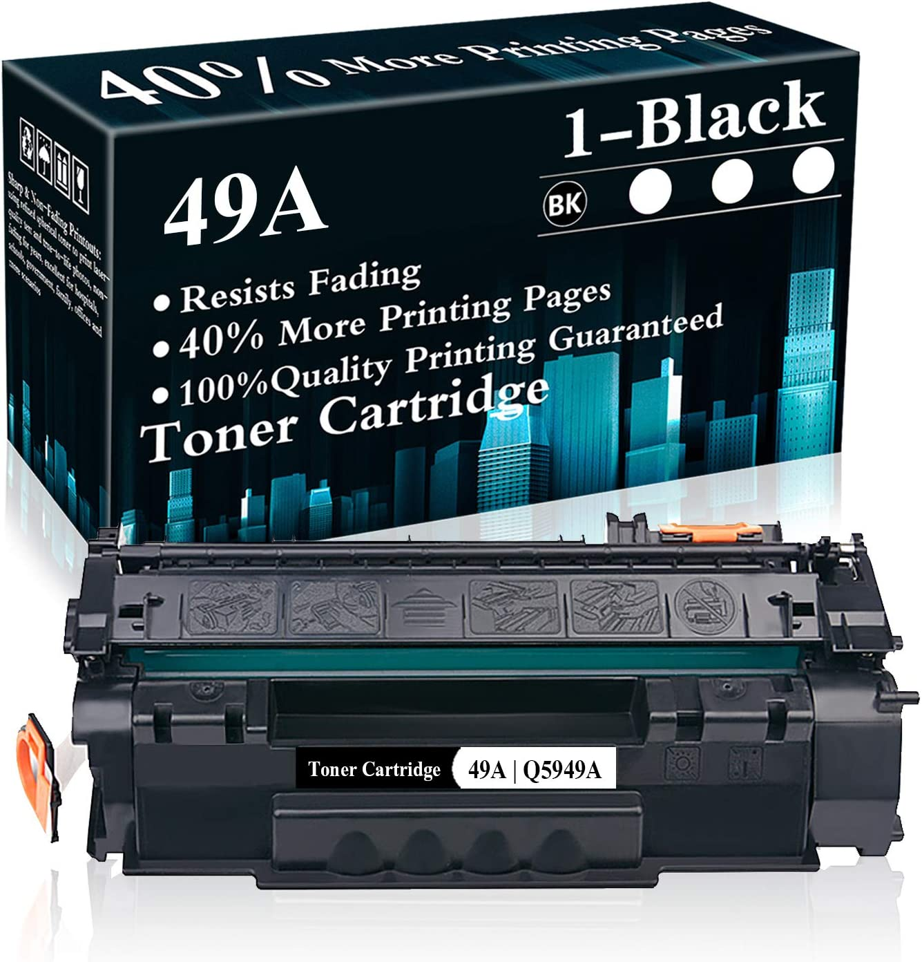 1 Black 49A | Q5949A Toner Cartridge Replacement for HP Laserjet 1320 1320n 1320nw 1320tn 3390 MFP 3392 MFP 1160 Printer,Sold by TopInk