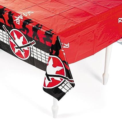 Fun Express 54 X 108 in. Plastic Ninja Warrior Tablecloth (3-Pack)