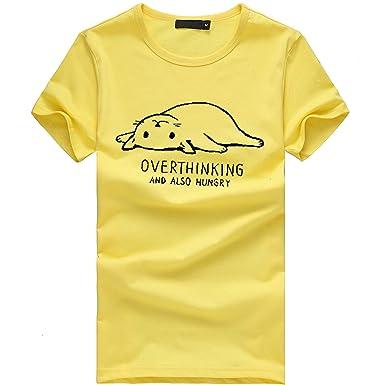 Tefamore Camisetas Mujer Manga Corta Camisetas Mujer Verano Blusa ...