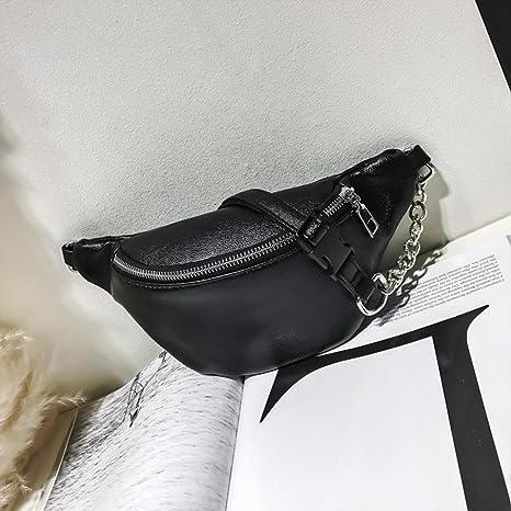 ed729639f83 Sunshinehomely Girls Women Mini Waist Pack Bags Fashion Chain Leather  Messenger Bag Shoulder Bag Chest Bag