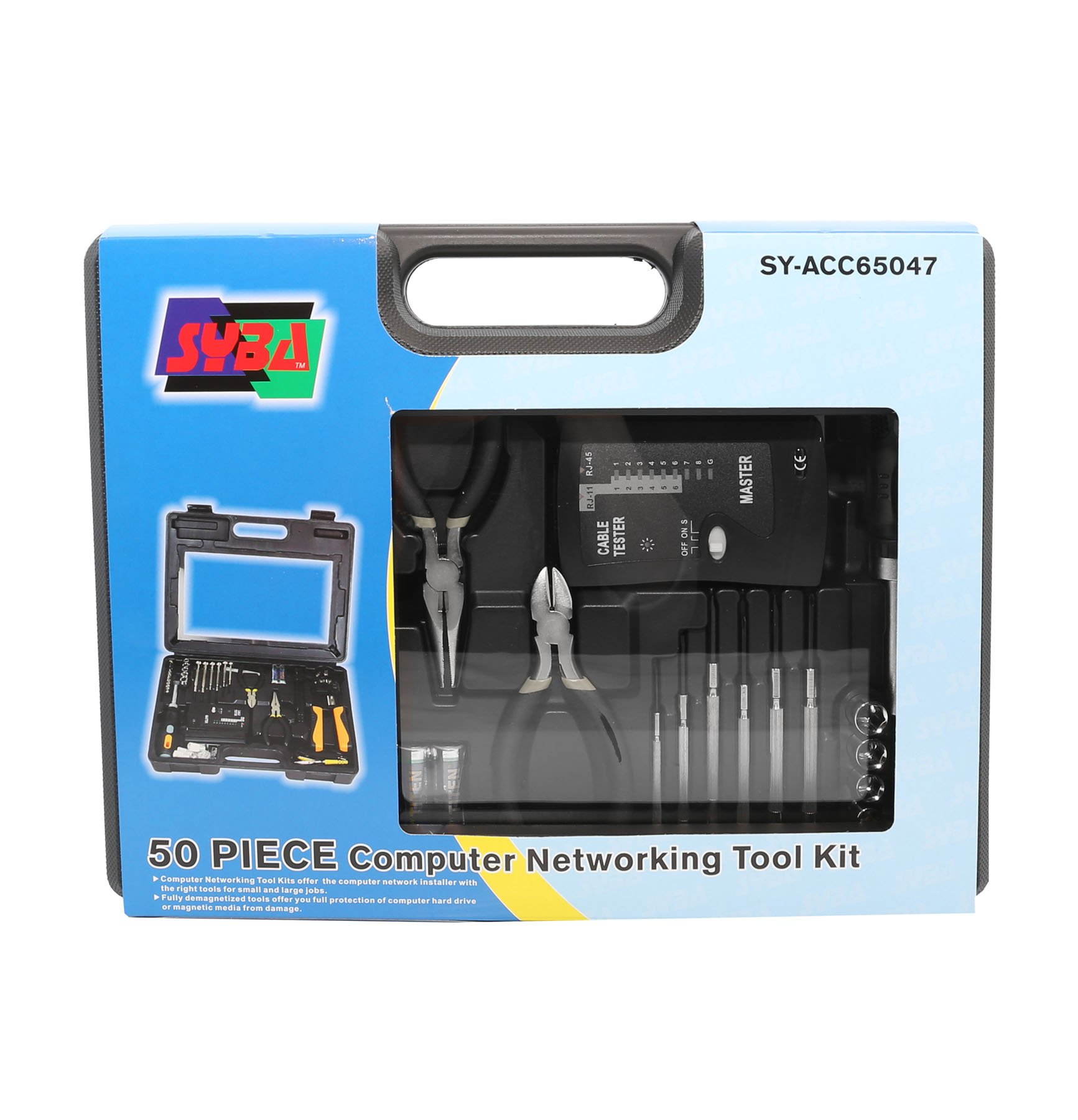 Syba 50 Piece Computer Network Installation Tool Kit With