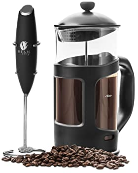 Bean Envy Professional Grade French Press Coffee Maker & Milk Frother