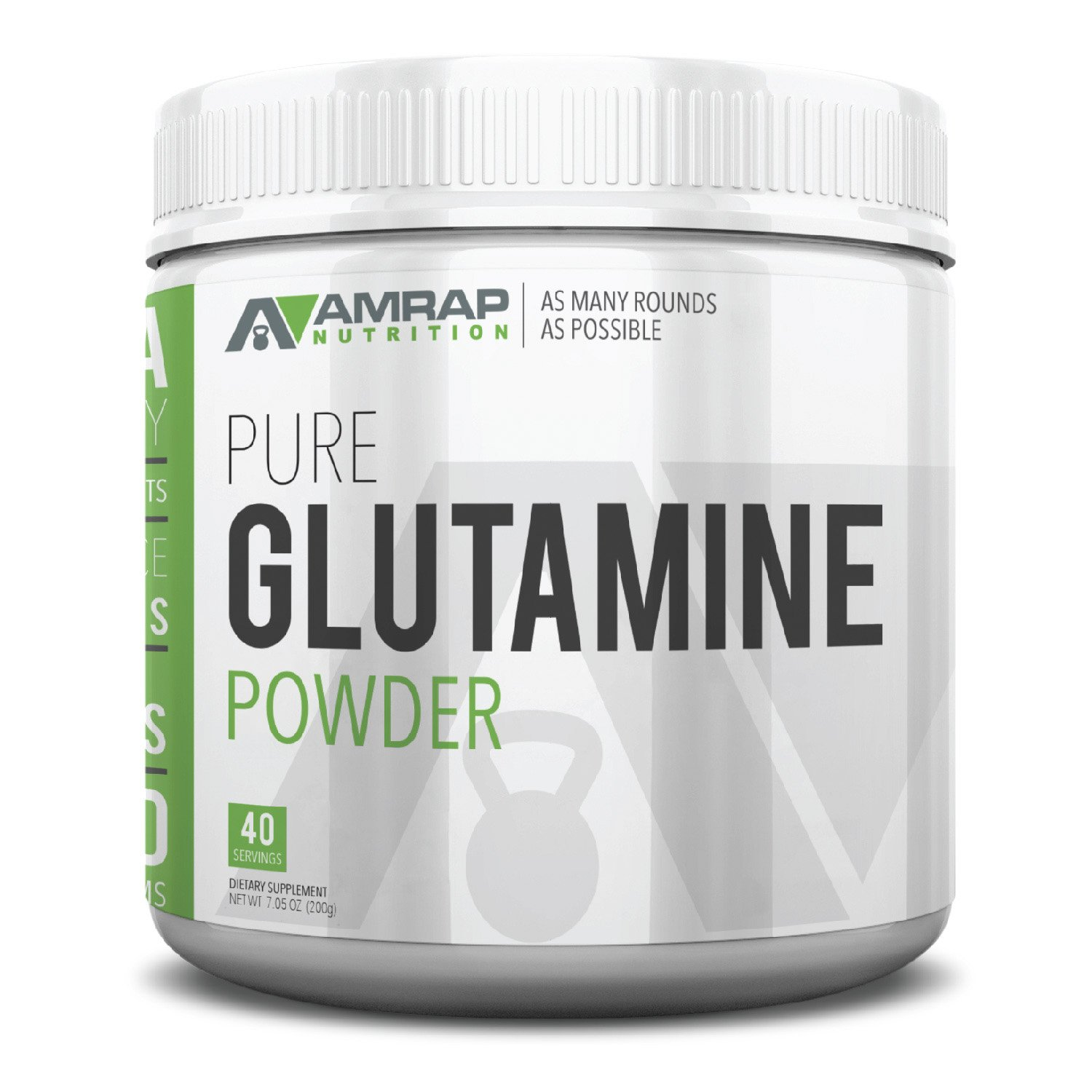 AMRAP Nutrition L-Glutamine Powder - Pure Micronized Free Form Glutamine Recovery Powder - Clinically Proven Recovery Aid for Men and Women - Safe for Regular Consumption - 200 grams by AMRAP Nutrition