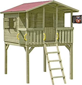 Gartenpirat Stelzenhaus Spielhaus Tom Aus Holz Mit Veranda Amazon