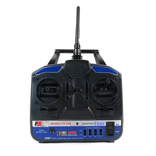 FlySky FS-T4B 2 4GHz 4 Channel Transmitter and Receiver Radio System