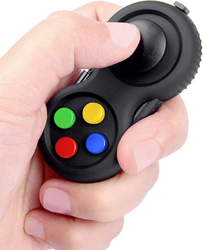 Autism,Children,Teen,Adults ADD ADHD jiuhao Fidget Pad with 11-Functions Fidget Toys,Fidget Controller Stress Reducer Toys Perfect for Release Stress and Anxiety,Stress Relief