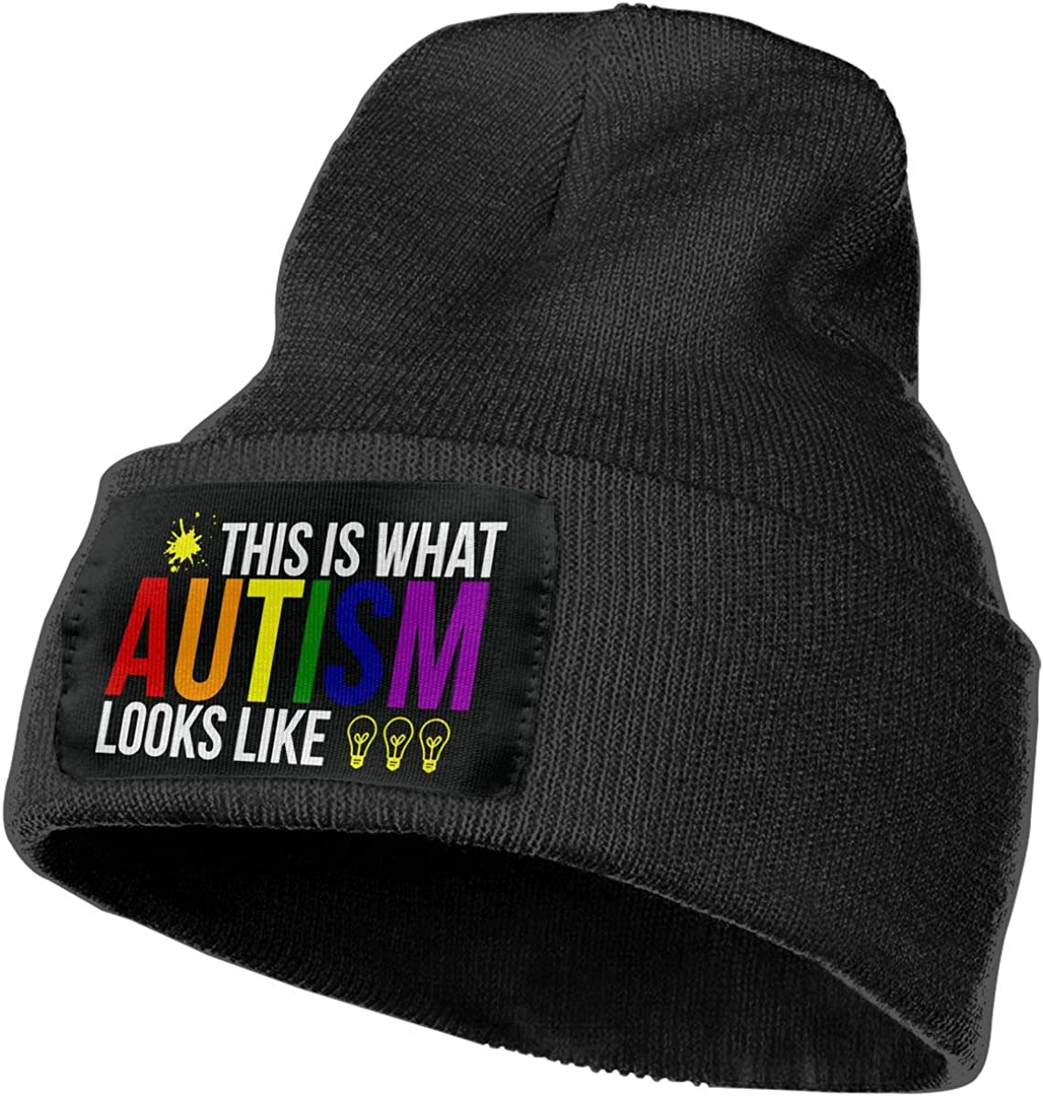 Men//Women This is What Autism Looks Like Outdoor Warm Knit Beanies Hat Soft Winter Skull Caps