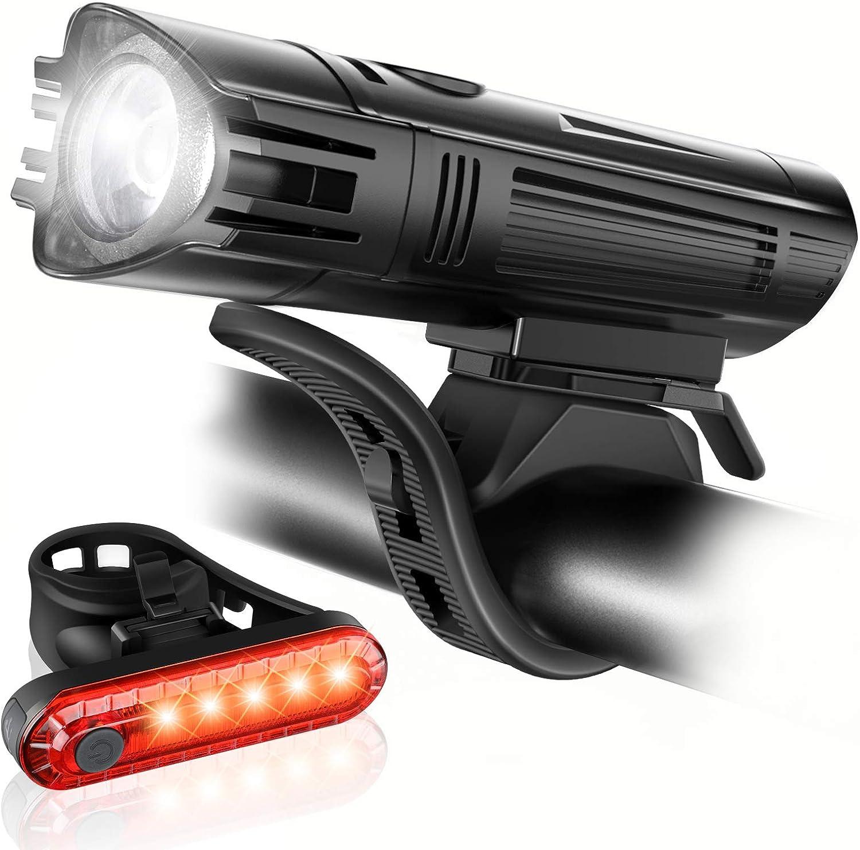 set de luces para bicicleta recargables por usb ascher