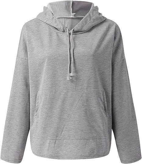 Kapuzenpullover Pullover Langarmshirt Sweatshirt Hoodie Motiv Damen BOLF Kapuze