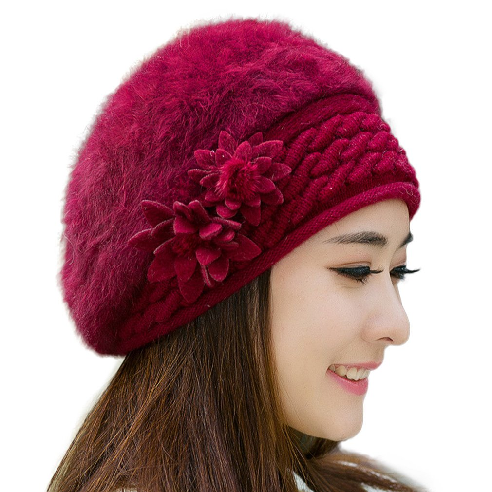 RICHTOER Women Slouch Baggy Winter Warm Knit Crochet Beanie Hat Cap Beret