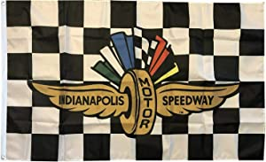 Dimike Indianapolis Motor Speedway Flag 3x5 Checkered Banner