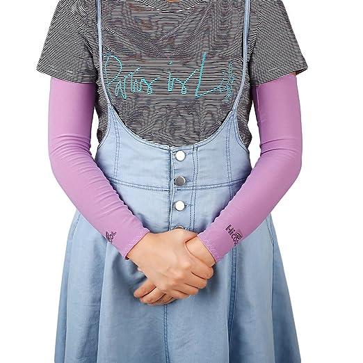 Beautyrain Refrigeración 1 par Protección UV Mangas del brazo más cálidas Hombres Mujeres Niños Guantes de protección protector solar s Corriente Golf ...