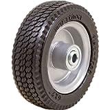 Marathon 33101 6x2 Flat Free, Hand Truck/All Purpose Utility Tire on Wheel, 2.375' Centered Hub 1/2' Bearings