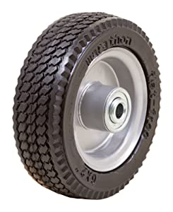 "Marathon 6x2"" Flat Free, Hand Truck / All Purpose Utility Tire on Wheel, 2.375"" Centered Hub, 1/2"" Bearings"