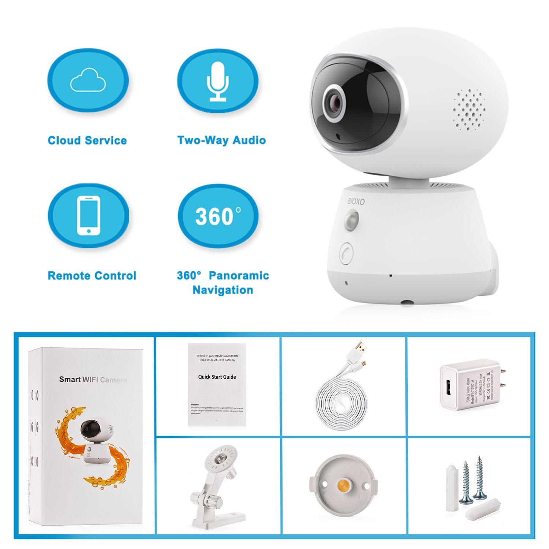 Bioxo Pet Monitor Camera, 1080P HD 2 4G Wireless IP Camera, Night