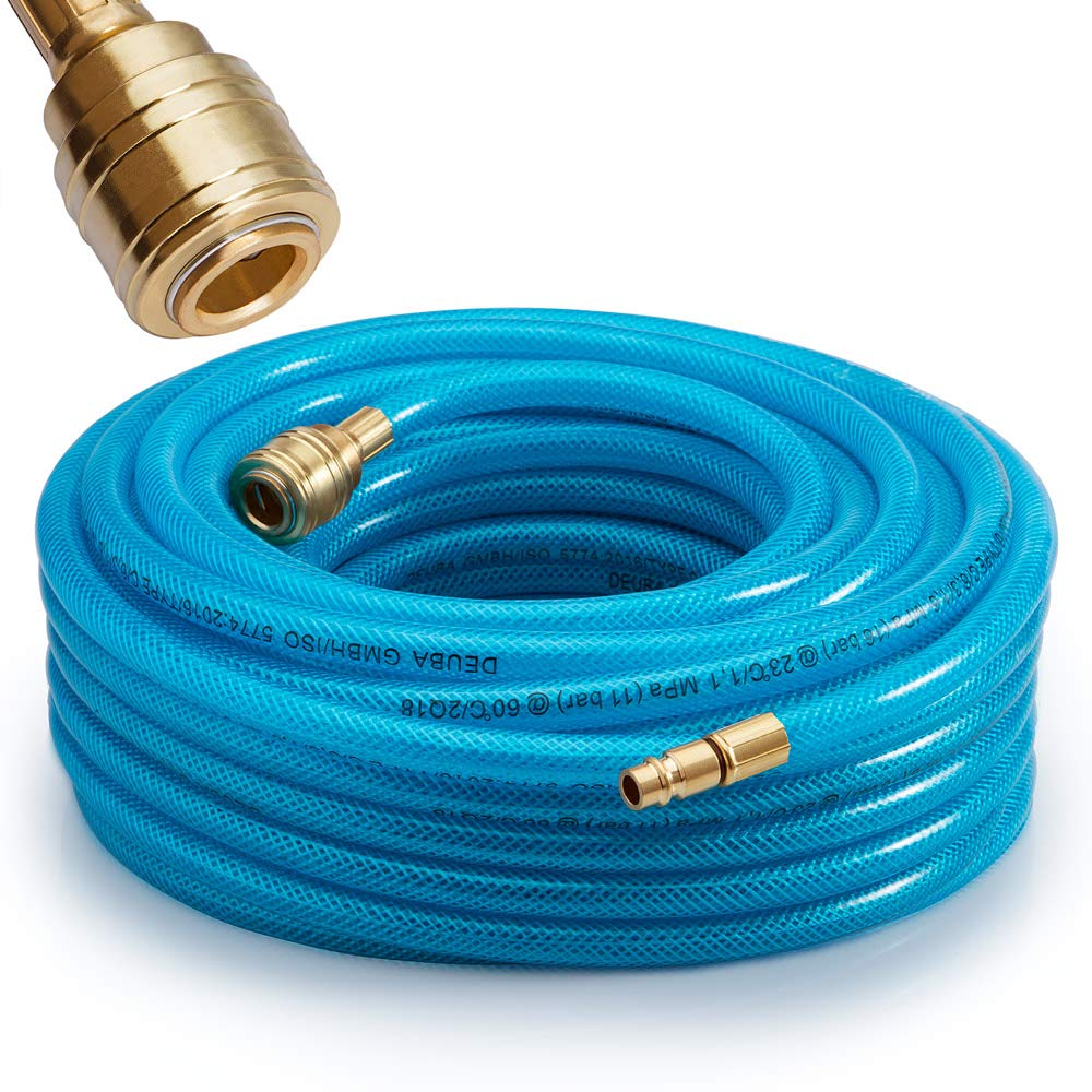 """Silverline 8mm Air Compressor Tool Line Hose with 1//4/"""" BSP Connectors 10m 15m"""