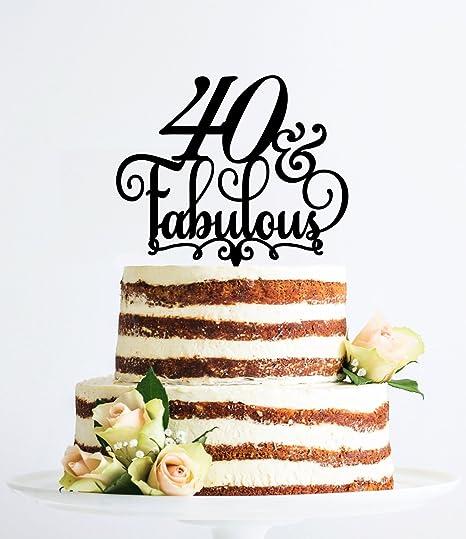 Amazon.com: 40 y fabulosa tarta de cumpleaños 40TH ...