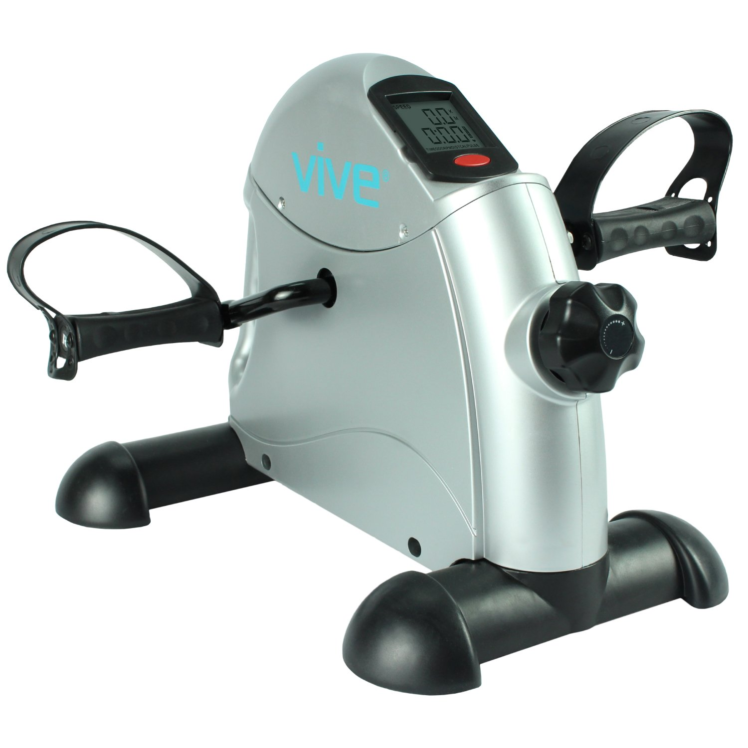 Pedal Exerciser by Vive - Portable Medical Exercise Peddler - Low Impact, Small Exercise Bike for Under Your Office Desk