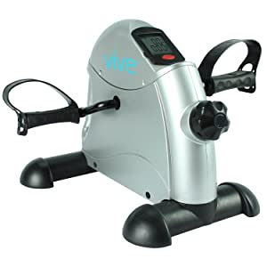 Vive Pedal Exerciser - Stationary Exercise Leg Peddler - Low Impact, Portable Mini Cycle Bike for Under Your Office Desk