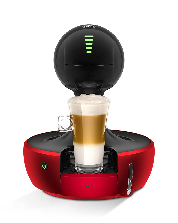 Krups Drop YY2501FD - Cafetera de cápsulas Nestlé Dolce Gusto de 15 bares, 1500 W con depósito de 0,8 l, color rojo: Amazon.es: Hogar