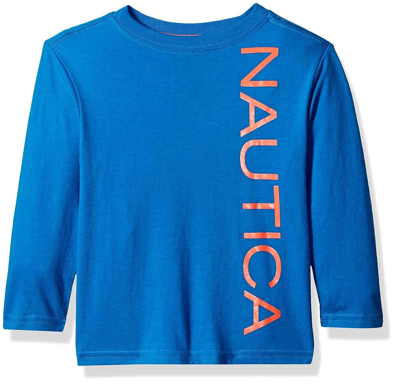 7c7904b89 Amazon.com: Nautica Baby Toddler Boys' Long Sleeve Solid Crew Neck T-Shirt:  Clothing
