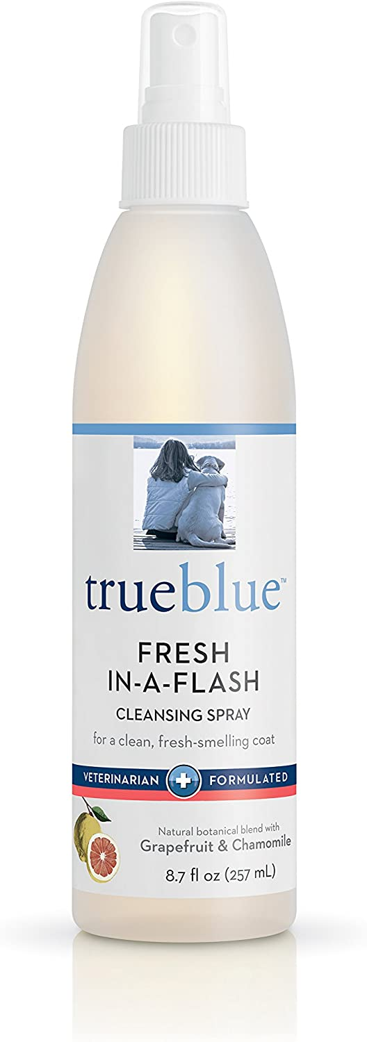 TrueBlue Grapefruit & Chamomile Fresh-in-a-Flash Cleansing Dog Spray – Refreshes, Conditions Coats for Dogs, Puppies, Cats – Moisturizing, Toxin Free, Natural Botanical Blend – 8.7 Fl. Oz.
