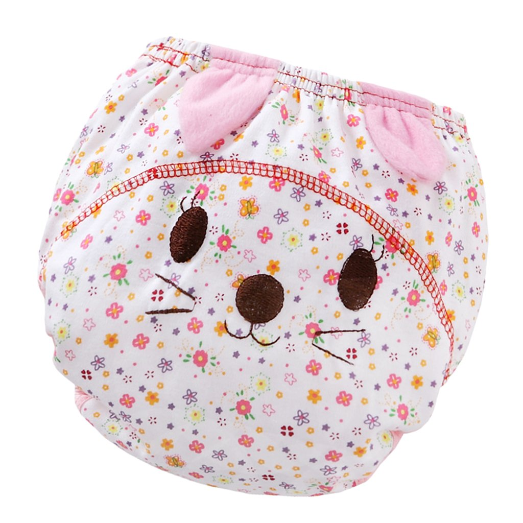 90 Homyl 3Layer Washable Baby Boy Girl Toilet Pee Potty Training Pants Cloth Diaper Nappy 13KG Pig