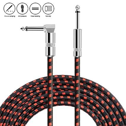 Neuma Cable de guitarra 10 pies/3 m, 1/4 Cable de instrumentos de ...