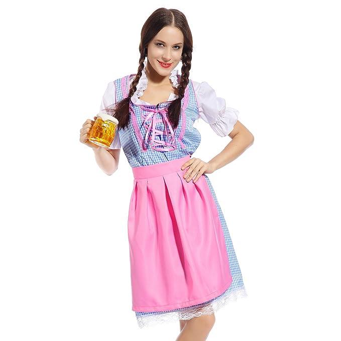 Oktoberfest Costume Bavarian Gretchen German Heidi Dirdnl Beer Girl Wench Maid  sc 1 st  Amazon.com & Amazon.com: Oktoberfest Costume Bavarian Gretchen German Heidi ...