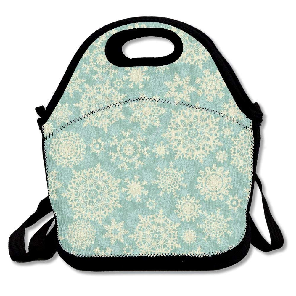 ffadee353a0f Amazon.com: Christmas Snowflake Lunch Bag Lunch Tote: Kitchen & Dining