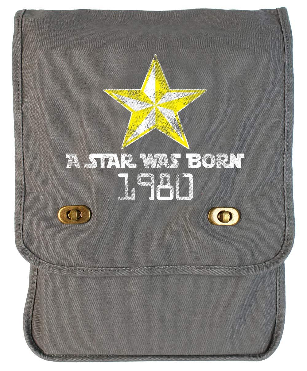 Tenacitee A Star Was Born 1980 Grey Brushed Canvas Messenger Bag