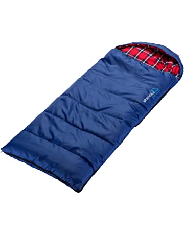 Skandika Outdoor Dundee Junior, Saco de Dormir Infantil, Azul/Rojo, L