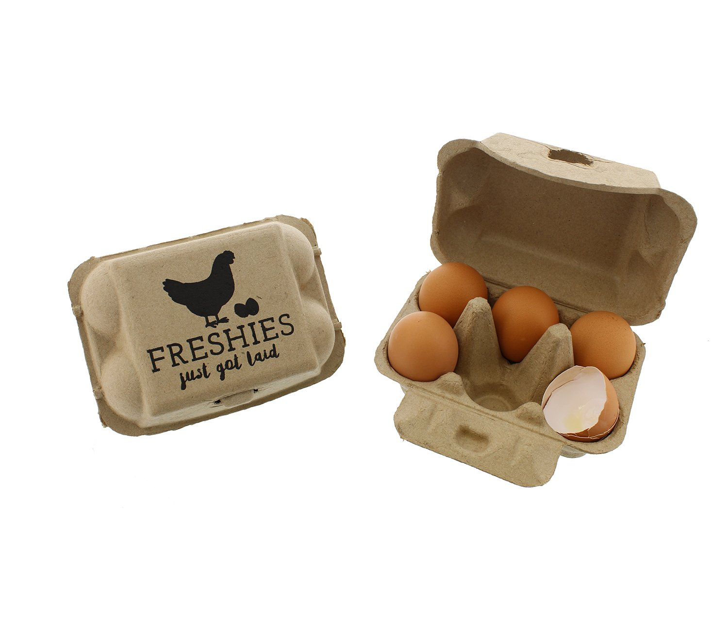 Rural365 Chicken Egg Cartons - Biodegradable Egg Carton 6 Cell Egg Holders, Farm Freshies Empty Egg Cartons, 20 Pack