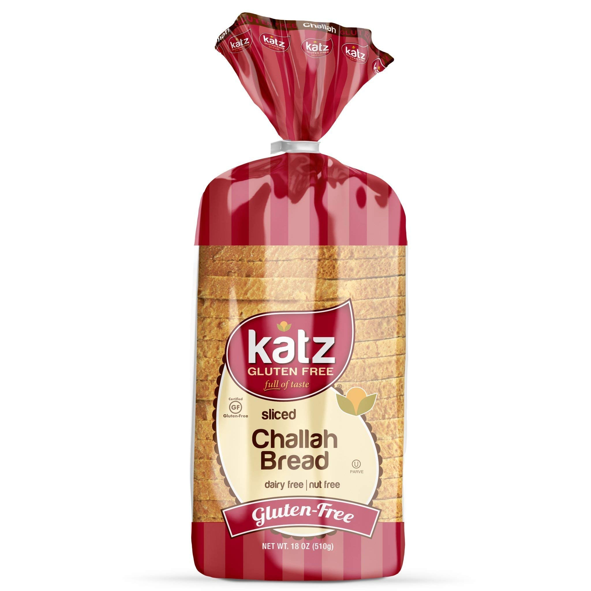 Katz Gluten Free Sliced Challah Bread | Dairy, Nut and Gluten Free | Kosher (6 Packs of 1 Sliced Loaf, 18 Ounce Each) by Katz Gluten Free