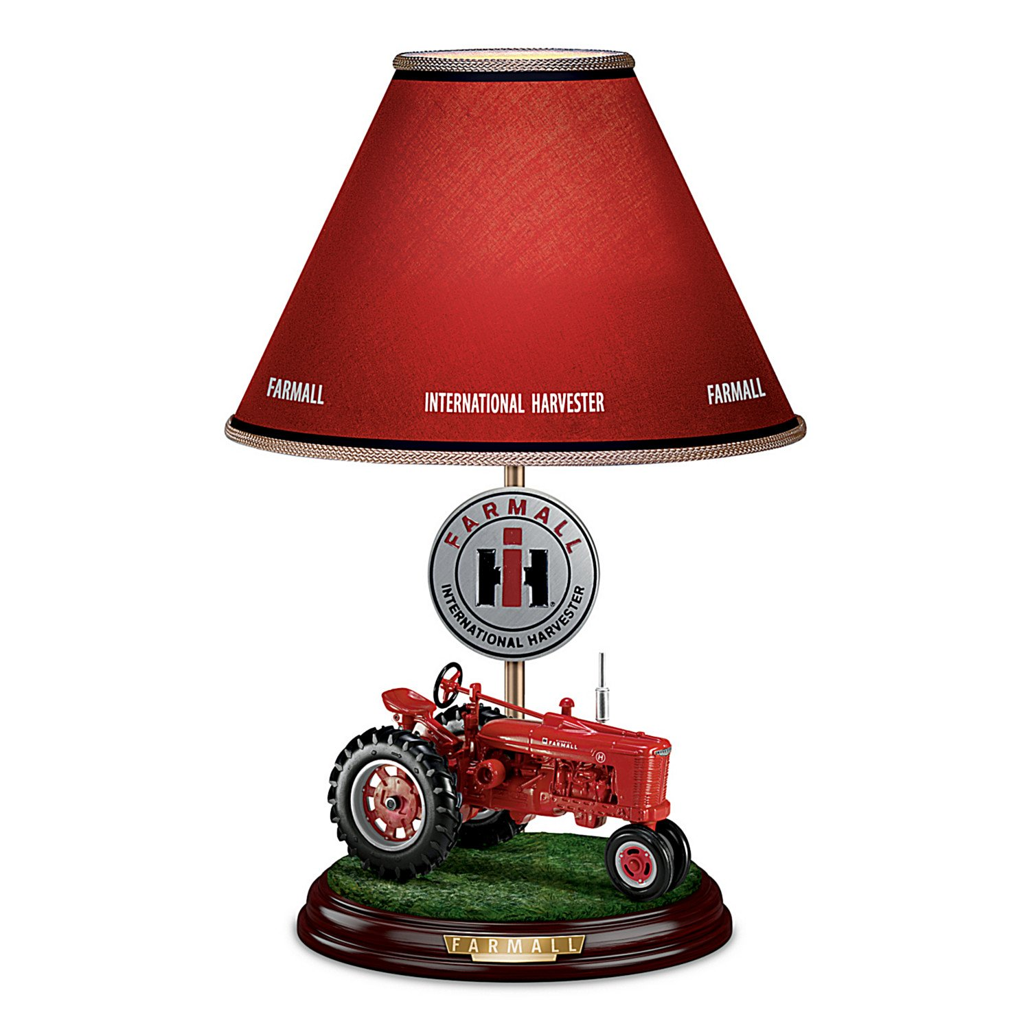 Farmall Heritage Table Lamp With Fully Sculpted Model ''H'' Farmall Tractor Base by The Bradford Exchange