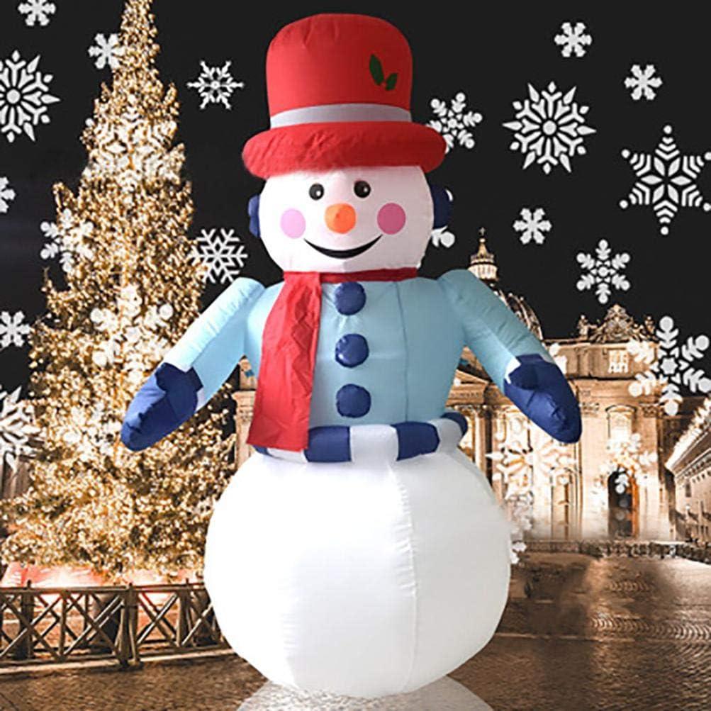 Christmas Inflatable SANTA SNOWMAN REINDEER Air Blown Outdoor Yard Event Deco NW