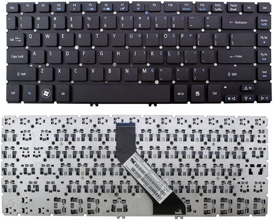 New Laptop Keyboard (Without Frame) Replacement for Acer Aspire V5-431 V5-431G V5-431P V5-431PG V5-471 V5-471G V5-471P V5-471PG, US Layout Black Color