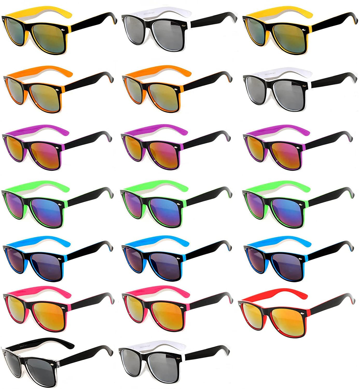 ead80a4b04 Assorted Colored Frame Retro Sunglasses. Bulk Sunglasses - Wholesale Bulk  Party Glasses