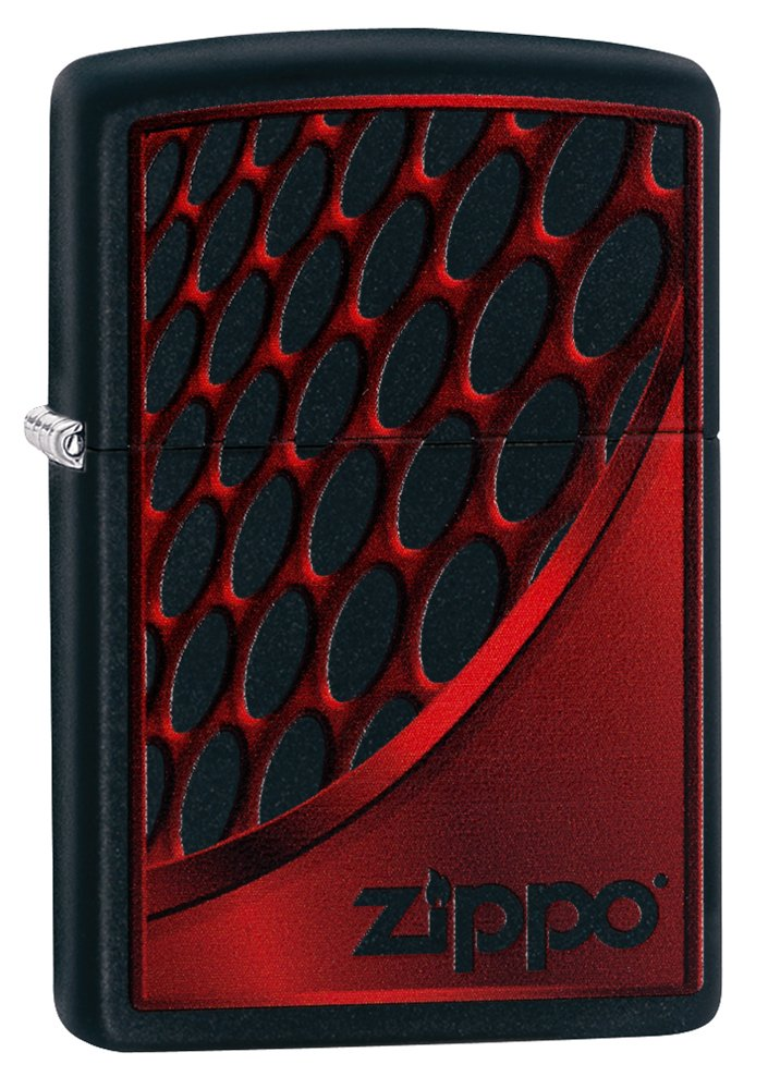 Zippo Red and Chrome Mechero de Gasolina, latón, Aspecto de Acero ...