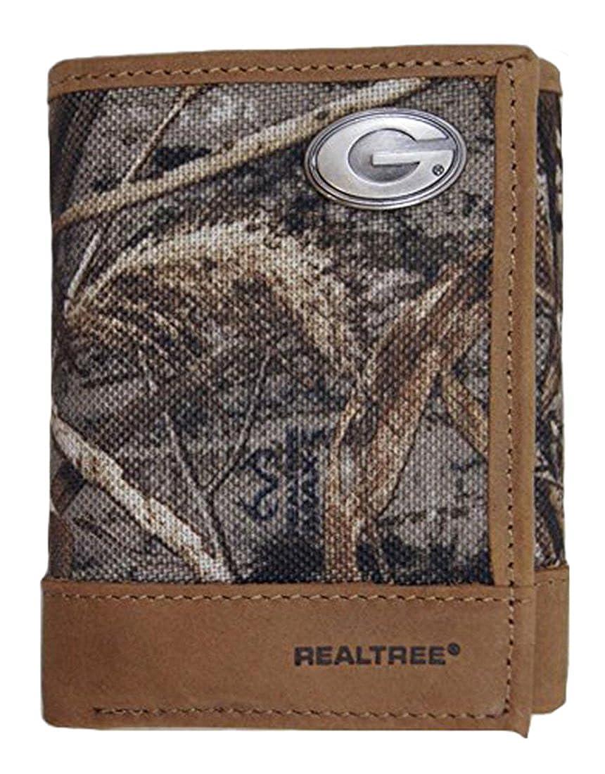 NCAA Georgia Bulldogs Realtree Nylon//Leather Trifold Concho Wallet