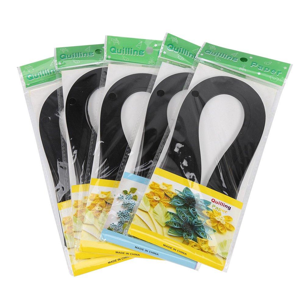 600 Rayas Papel Quilling DIY 3mm Ancho Papel Origami Papel Quilling DIY Decoraci/ón Alivio de Presi/ón Regalo Origami Papel Artesanal Mano black