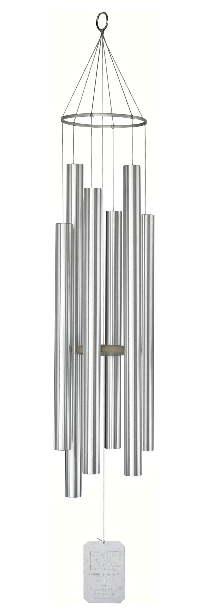 Grace Note Chimes 1X 62-Inch Earth Song Wind Chimes, X-Large , Silver
