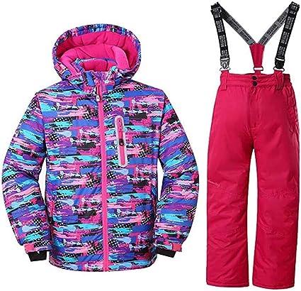 Wewant Damen Skijacke warm Jacke und Hose Set Winddicht