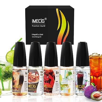 IMECIG Vape E-Líquido Kit de Inicio Sabor Mezcla para Cigarrillo Electrónico Caja Mod E