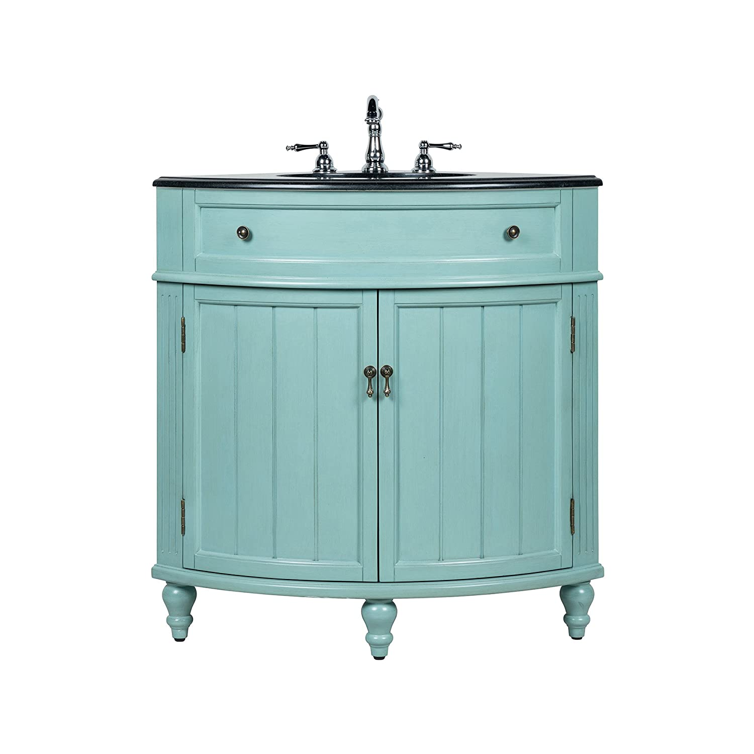 24 benton collection thomasville blue slim corner bathroom sink rh amazon com large corner bathroom vanity with sink corner bathroom vanity with two sinks