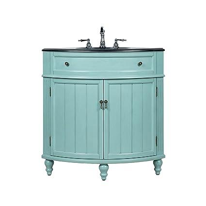 Genial 24u201d Benton Collection Thomasville Blue Slim Corner Bathroom Sink Vanity  GD 47555