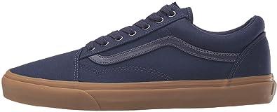 0f372252a307 Vans U Old Skool Navy Gum Mens Suede Skate Trainers Shoes-9  Amazon ...