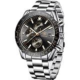 BENYAR Wrist Watch Men Chronograph Analogue Quartz Mens Watches for Men Leather Strap Fashion Business Sport Design 30M…