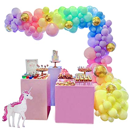 Amazon.com: Juego de guirnalda de globos de unicornio de 16 ...
