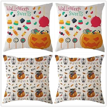 DOUFUZZ Fodera per Cuscino con Stampa di Halloween Fodere